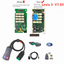 Best price Lexia 3 PP2000  Diagbox V7.83 with Firmware 921815C Lexia3 V48/V25 For Citroen for Peugeot OBDII diagnostic-tool newest for renault can clip v166 lexia3 pp2000 diagbox v7 83 lexia 3 lexia 3 v48 pp2000 v25 obd2 diagnostic tool by dhl free
