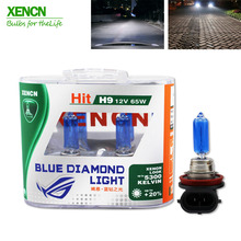 XENCN H9 12V 65W 5300K Xenon Look Blue Diamond Light Halogen Car Bulbs Quality Headlight Lamps 2pcs for mazda cx-5