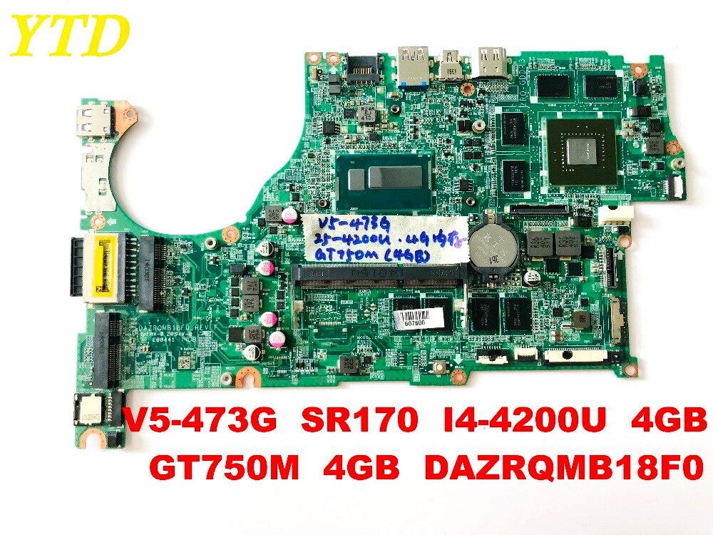 Original for font b ACER b font V5 473G laptop motherboard V5 473G SR170 I5 4200U