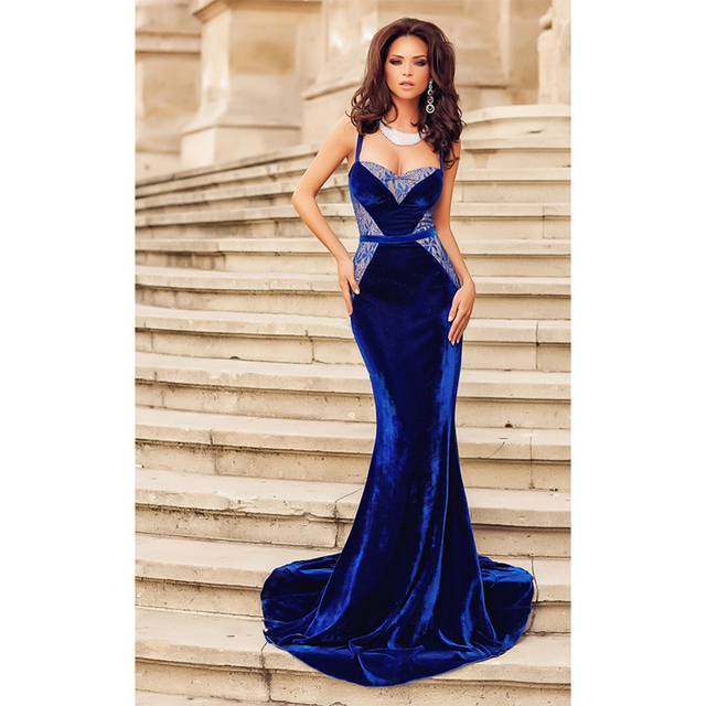 Long Dress Evening Party Gown Dress For Women Blue Dinner Dress Vestido  Festa Elegant Ladies Special 5dd42c0fc