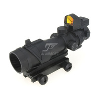 JJปืนACOGสไตล์4x32สว่างกับD OcterมินิRed DotและK Illflash/ฆ่าแฟลช(สีดำ)จัดส่งฟร