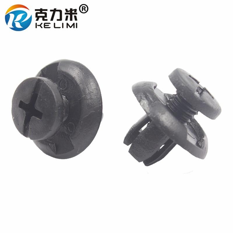 KE LI MI Short screw retainer clamp 8mm bumper fender door engine cover fastener clips notch turnbuckle