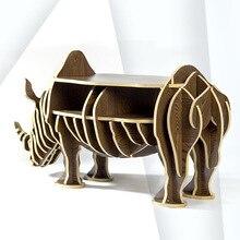 European Creative rhino Side Table Nordic style log home furnishing decoration hotel restaurant bar decor free shipping