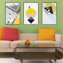 Yellow Geometric Figure Nordic Poster Canvas Painting for Office Wall Art Prints Home Decor Artwork