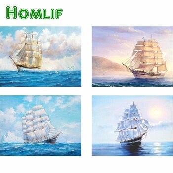 Homlif 5d Diy Elmas Mozaik Denizde Boncuk çapraz Dikiş Setleri Elmas