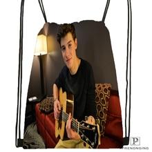 Custom Shawn Mendes Drawstring Backpack Bag Cute Daypack Kids Satchel (Black Back) 31x40cm#180531-02-01