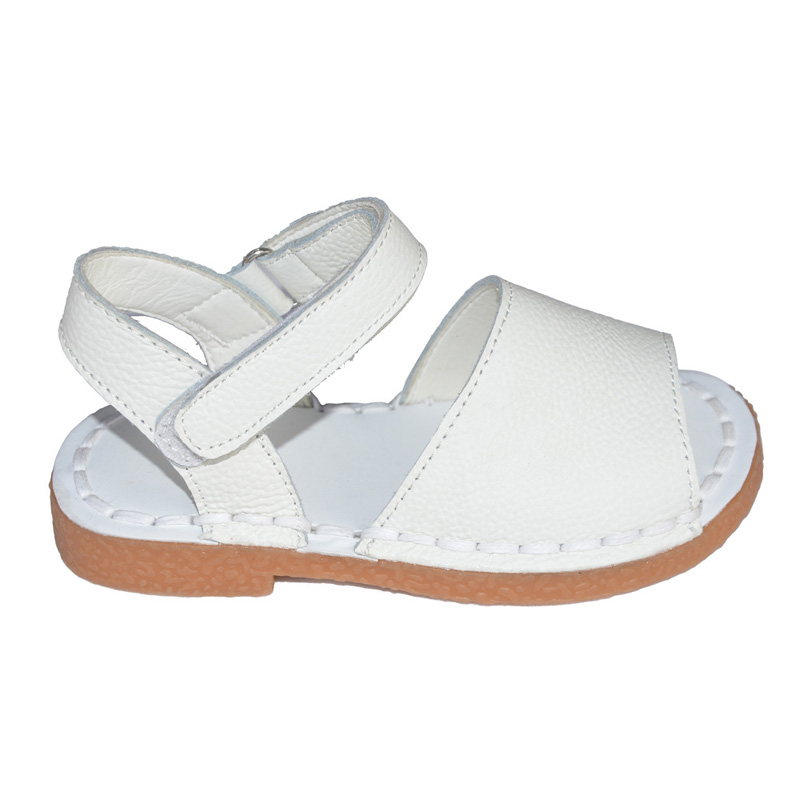 34fdbaa8569 Girls Sandals 2019 New Summer Genuine Leather Children Sandals for Girls  Hand Sewing Plain Kids Sandals Soft Sole Girls Shoes-in Sandals from Mother    Kids ...