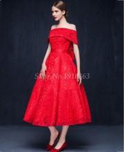 2016 roten Abendkleid Spitze Elegantes Kleid Party Vestido De Festa Longo Brautkleider Nach Maß 26DLD