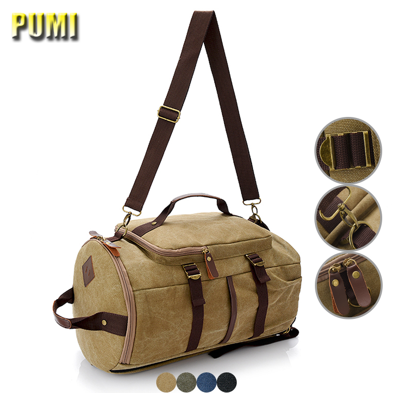 Men Vintage Canvas Student Laptop Backpack Large Capacity Multifonctional Travel Backpack School Bag for Boy Mountaineering Bags dy0531 ladies bag women backpack suit for 14 15 6 17inch notebook laptop bag student school bag travel mountaineering bag