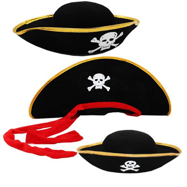 f6678349d65be Halloween Costume Party Performance Props Cosplay Pirate Captain Hat  Pirates Of The Caribbean Hat Adult Children Apply