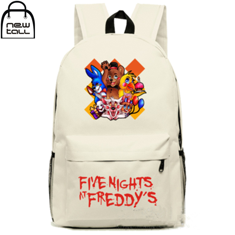 [NEWTALL] 2017 New Horror Game Five Nights at Freddy's Backpack FNAF School Buckle Shoulder Bag New 16072706