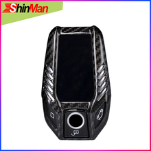 ShinMan Carbon Fiber Black Color CAR key case  shell Key Cover For BMW 5 7 Series i8 730li 740li 750li X3 X7 G30