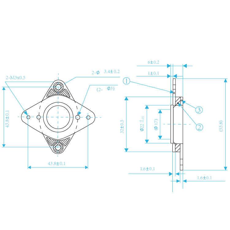 Deek Robot Peredam Getaran Baja 42 Stepper Motor Shock Absorber untuk 3D Printer Bagian 1 Pcs