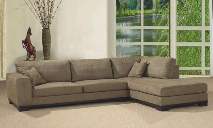US $1050.0 |Free Shipping 2013 Living Room Fabric sofa L shaped with  detachable wash Fabric corner Sofa, best fabric for sofa F9047-in Living  Room ...