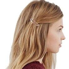 Модные шикарные заколки для волос, простые металлические заколки для волос, аксессуары для волос для девочек
