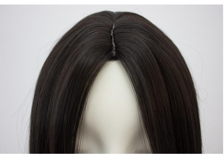 HSIU Högkvalitativ 100cm lång rak peruk centralt parti Cosplay - Maskeradkläder och utklädnad - Foto 3