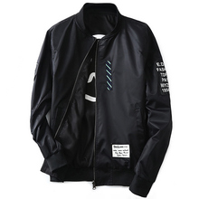2019 Autumn Men Pilot Wear on both sides Jacket with Patches Green Both Side Thin  Wind Breaker Coat