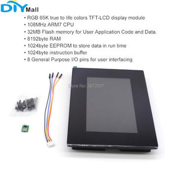"7.0 ""7inch Nextion Enhanced HMI LCD Display Module Resistive Touch Multi-Touch Panel capacitivo com gabinete NX8048K070-011R / C 1"