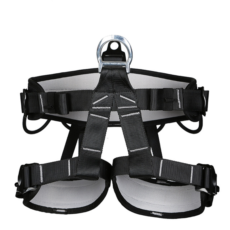Outdoor Camping Hiking Rock Climbing Half Body Waist Support Safety Belt  Harness Aerial Survival Equipment
