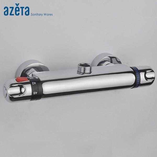 AZETA robinet thermostatique salle de bains contemporaine en laiton bain douche mélangeur contrôle de température robinet mural mitigeur MK6403