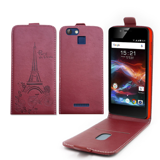 Embossed Pairs towel up and down pu leather flip case Flip Cover Open Phone Bags for Nomi i5012 EVO M2