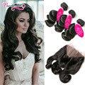 Malaysian Loose Wave Hair With 360 Frontal 3 Bundles Deals Malaysian Virgin Hair 360 Lace Frontal Closure With Bundles Wavy Hair