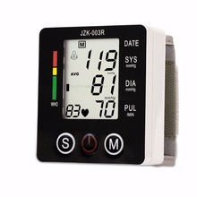 Health Care New Digital Blood Pressure Monitor Wrist tonometer Automatic Sphygmomanometer BP Blood Pressure Meter