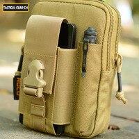 TTGTACTICAL Cinghia Sacchetto Della Vita Militare Molle EDC Utility Pouch Gadget con il Telefono Cellulare Holster Holder