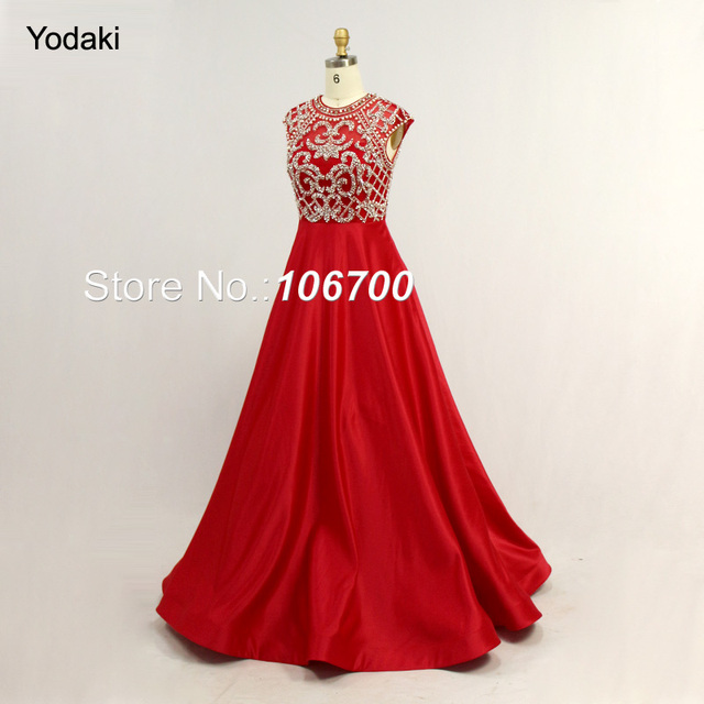 2018 New Styles Hand Make Crystal Beading Ballgown Evening Dresses O ...