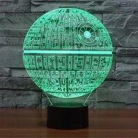 חמה למכירה 3D Mag פלטפורמת אשליה תאורת הלילה מגע בוטון 7 שינוי צבע דקור מנורת LED USB