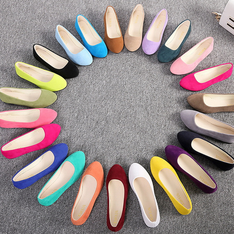 Women Flats Shoes 2019 Faux Suede Loafers Candy Color Shoes Woman Fur Flats Warm Ladies Shoes Black Boat Shoes(China)