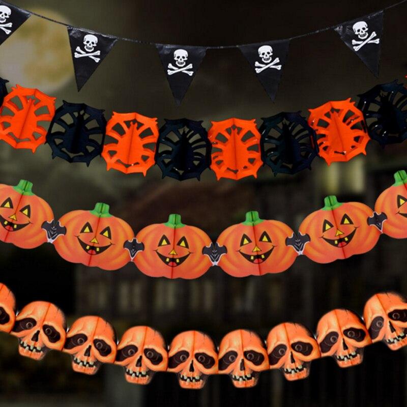 5 Pcs Lot Halloween Dekorasi Halloween Party Props Garland Tata