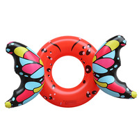 Inflatable Adult Butterfly Swimming Ring Floating Kid Summer Water Toy Inflatable Toy Pool Float Circle for Adult Children