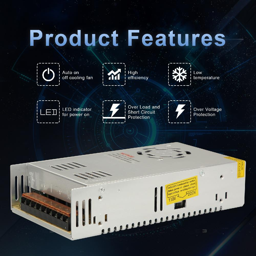 Image 5 - Universal Switching Converter Power Supply Adapter Transformer Switch Power for LED Strip Light 220V to 12V DC 30A 360W-in Car Inverters from Automobiles & Motorcycles