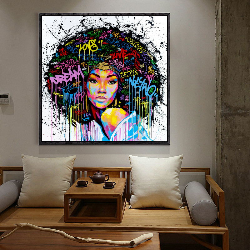 African Women Painting Wall Art Canvas Painting Art Poster ...