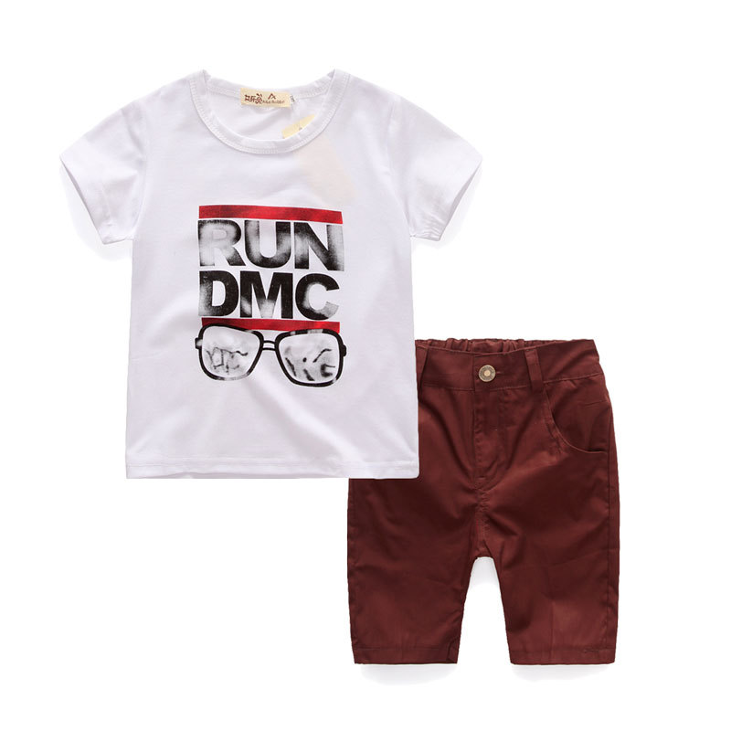 2017 New Children Clothing Boys Set Summer Cotton 2pcs Boys Suit T-shirts Pants Casual Clothing Set 2 3 4 5 6 Years Boys Clothes