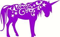 Unicorn Horse Mystical Animal Window Laptop Vinyl Decal Sticker Purple