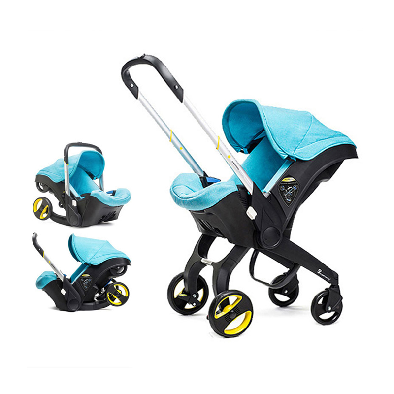 Free Shipping Baby Stroller 4 In 1 Travel Systems Stroller Baby Foldable Portable  Stroller Newborn Baby Sleep Basket