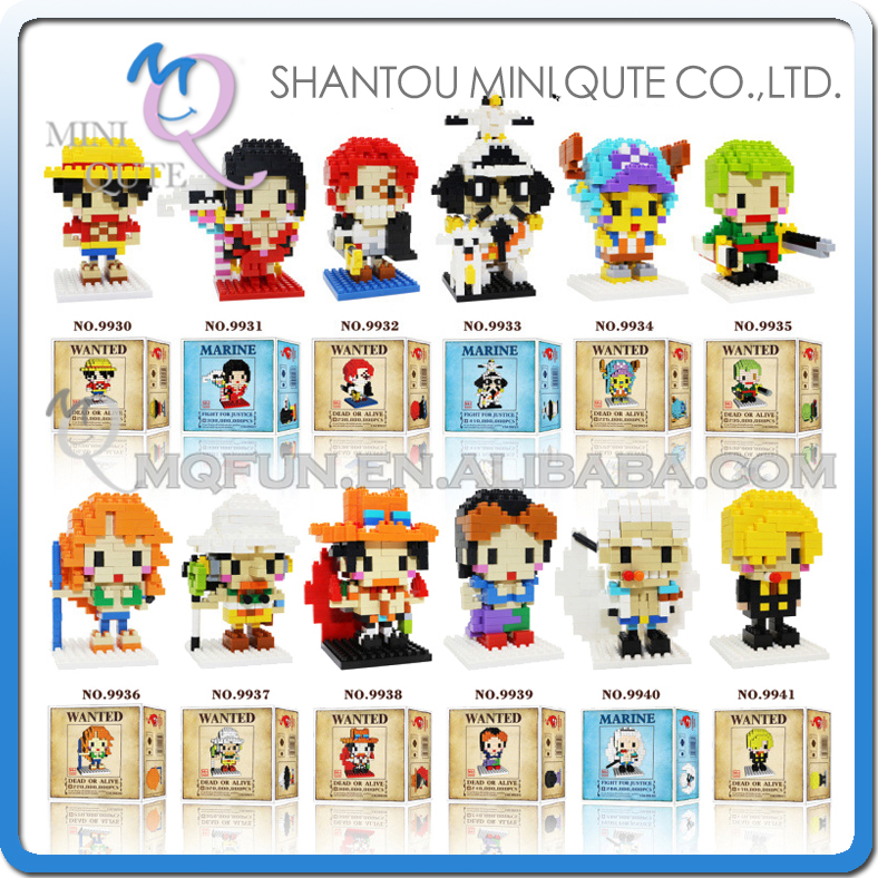 Mini Qute Kawaii CKL one piece anime Luffy Chopper Zoro diamond plastic building blocks bricks figures model educational toy