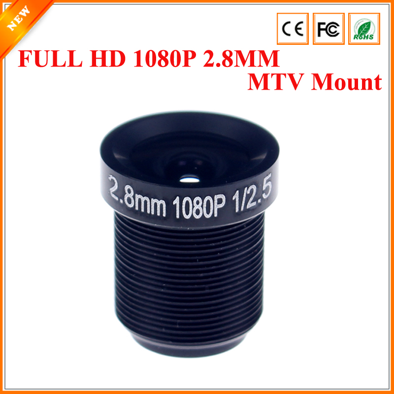 BESDER CCTV Lens 1080P 2MP 110degreee 1/2.5'' 2.8mm For HD Full HD CCTV Camera IP Camera M12*0.5 MTV Mount