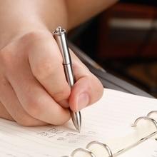 Tiartisan titanio pluma firma 2 en 1 mini portátil al aire libre ultraligero libro escritura pluma