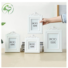 White Wood Photo Frame 3 5 6 7inches picture Frame Portable Hollow Wooden Photo Frame Children Photograph Prop Family Home Decor art photo frame picture frame 3 size wooden mounted ornament decor home
