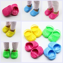 Fashion Summer Beach Sandals Slippers Shoes for 18inch Girl Dolls Fit 43cm Baby Toy  Girls Gift Clothes Accessories