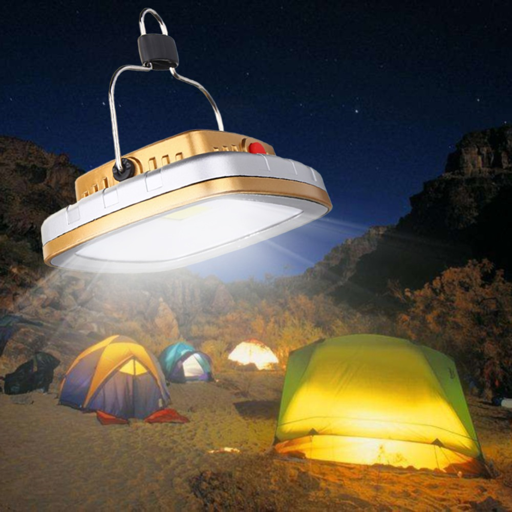 LED Camping Lantern Solar USB Rechargeable Tent Lamp Emergency Light For Outdoor Hiking Garden