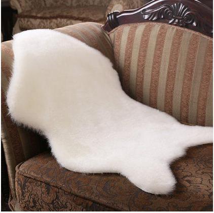 New Shape Faux Fur Sheepskin Chair Cover Seat Pad Soft Carpet Hairy