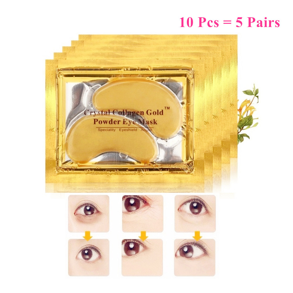 10Pcs Beauty Gold Crystal Collagen Eye Mask Eye Patches Moisture Anti-Aging Acne Skin Care Patches For Eye Korean Cosmetics 10pcs beauty gold crystal collagen eye mask eye patches moisture anti aging acne skin care patches for eye korean cosmetics