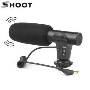 Image 1 - Внешний конденсаторный стереомикрофон SHOOT 3,5 мм для цифровой зеркальной камеры Nikon, Canon, Sony, микрофон для видеосъемки и интервью