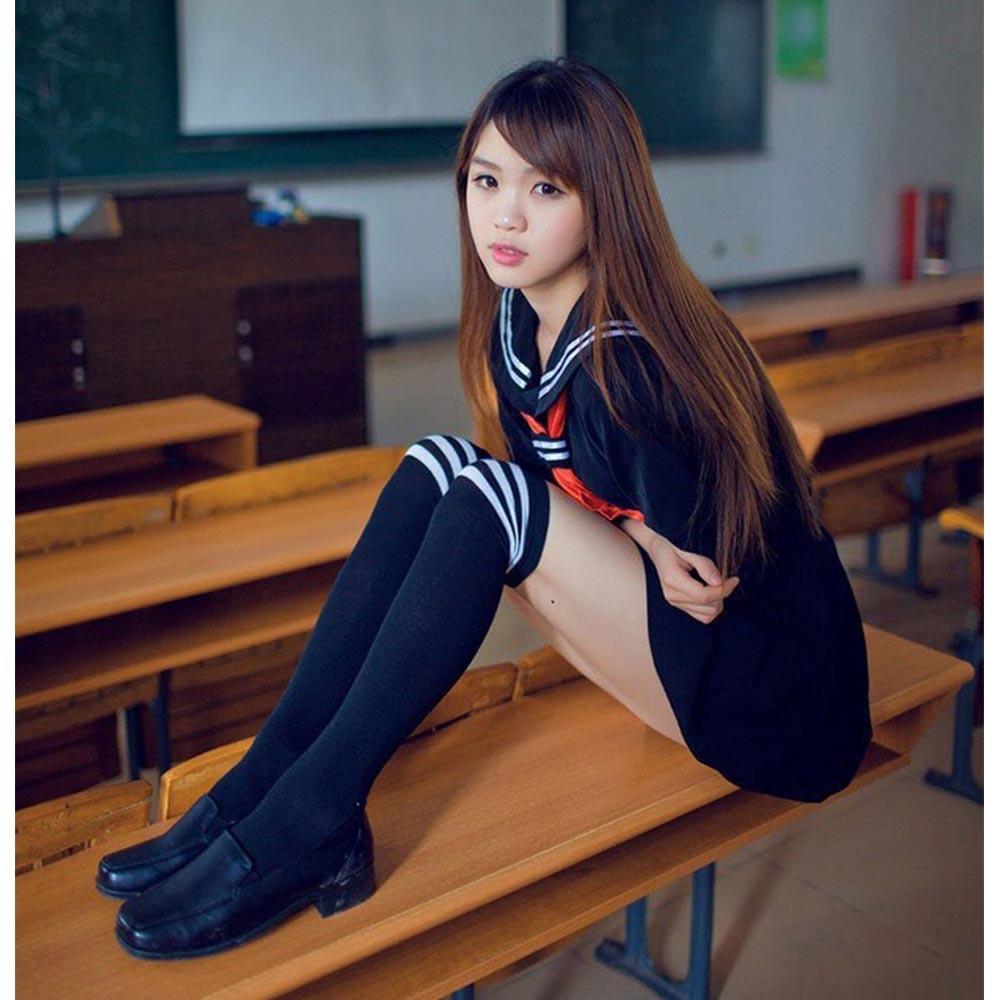 Anime Hell Girl Cosplay Costume School Sailor Uniform Suit Student - Կարնավալային հագուստները - Լուսանկար 4
