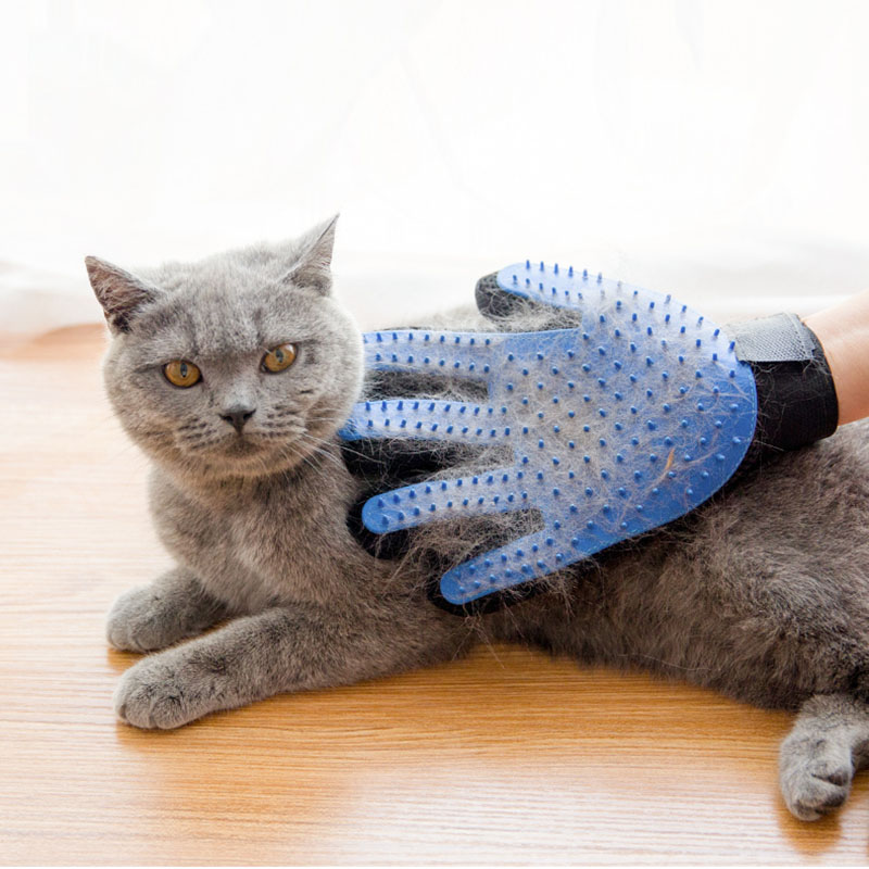 Pet Grooming Glove, Hair Removal Mitts De-Shedding Brush Combs For Cat, Dog 7 Horse