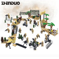 KAZI 82013 1 4 16PCS Building Blocks Military Toy Vehicle Super Tank Army Toys Children Educational